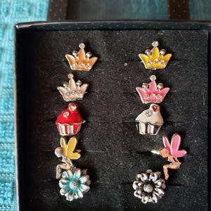 10 pack of Little Girl adjustable rings
